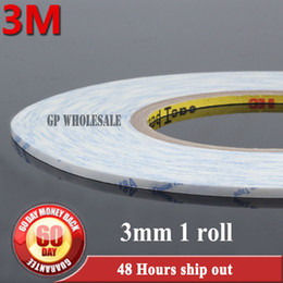Wholesale Thin Double Sided Tape - Wholesale- 2016 American 3M 9448 Tape Double-sided Tape 3mm*50m White Ultra-Thin MobilePhone Repair Special LCD Touch Screen Stickers Tape