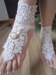Wholesale New Arrival Lace Legging - New Arrival Lace Anklets Wholesale Sandbeach Barefoot Jewellery Cheap Stretch Leg Bracelets For Wedding Bridal Bridesmaid Foot Jewelleries