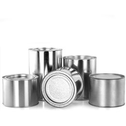 Wholesale Tin Gift Containers - 7.5*9.9cm Round Silver Cylinder Tin Box Tea Caddy Storage Boxes Candy Cookies Food Container Iron Case Gift ZA4535