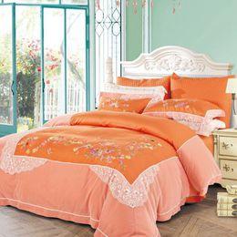 Dropshipping Comforter Sets King Size Orange UK Free UK Delivery