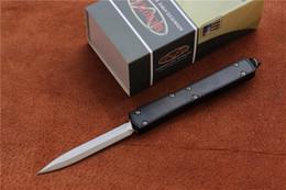 "Wholesale Carbon Auto - Free shipping High quality Microtech Makora II Knife D A Auto Titanium (4.45"" Satin Plain) 106-4Ti,Outdoor camping survival EDC tools"
