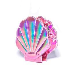 Goldschalenkupplung online-Wholesale-Fashion Marke Persönlichkeit Design Laser Sweet Shell Kette Umhängetasche Handtasche Mädchen Messenger Bag Handtasche Klappe Geldbörse
