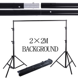 Wholesale 2m Stand - 2*2M 6.5FT*6.5FT Photography Background Photo Backdrops Support System Stands studio +carry bag