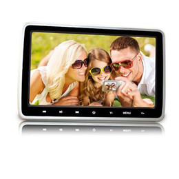 Wholesale French Cassettes - 10.1 Inch Ultra-thin Car Backseat Headrest Portable car DVD Player with Headphones and HDMI Port USB SD Card Slot