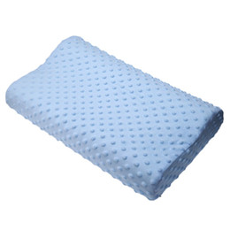 Wholesale Latex Cervical Pillow - Wholesale- Memory foam pillow care new 3 colors Orthopedic Latex Neck Pillow Fiber Slow Rebound Memory Foam Pillow Cervical Therapy