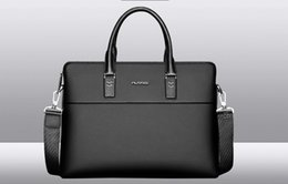 Wholesale Business Bag Men Briefcase - Free shipping, applicable to any place bags,Playboy Mens bag handbag leather casual Mens Business briefcase