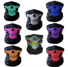 Wholesale Wedding Hats For Men - Motorcycle SKULL Ghost Face Windproof Mask Beanie Hat Outdoor Sports Warm Ski Mask Caps Bicyle Bike Balaclavas Bonnet Scarf Man