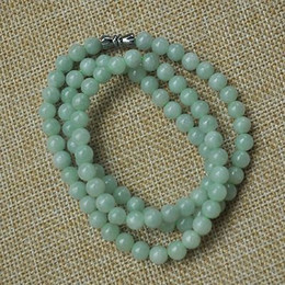 Wholesale Offering Plates - Certified Untreated Green Icy Jadeite Jade 6MM necklace Special offer