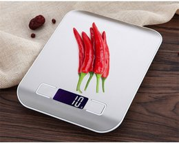 Wholesale Digital Kitchen Scale Stainless Steel - 11 LB   5000g Kitchen Scales Cooking Tools Measure LED Digital Scale Stainless Steel High-precision Electronic Weight Scales