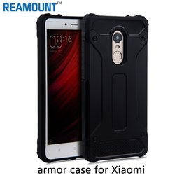 Wholesale Note2 Wallet Cases - 80pcs Shockproof Cover Tough Strong Hybrid Armor Case for red note2 3 4 xiaomi 5S 5s plus
