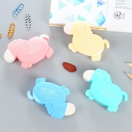 Wholesale Cute Tapes - Wholesale- 6644 Animal Shaped Correction Tape Cartoon Concealer School Tape 6mx5mm 4 Colors Available Cute Stationery Kids Gifts