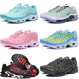 Wholesale Cheap Running Shoes For Womens - Cheap Brand New Hight Quality Air TN Sports Running Shoes For Women Black Red Womens Runner Sneakers Pink Blue Woman Trainers Tennis Shoes