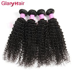 Wholesale Raw Indian Hair Curly - Glary Mink Brazilian Peruvian Malaysian Raw Indian Hair Weave Bundles Virgin Kinky Curly Human Hair Extensions Natural Hair Weft Wholesale