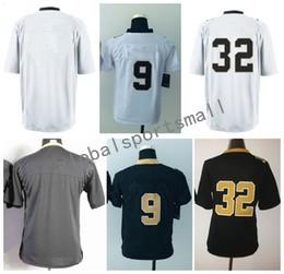 Wholesale Blank Black Football Jersey - 2017 Football Jerseys Mix OrderYouth Style Stitched Saintz Blank #9 BREES #32 VACCARD White Black Mix Order for Football jerseys Drop shippi