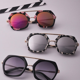 Wholesale New Korean Baby Girls - Korean Fashion New arrived baby Infant sunglasses Children UV400 Glasses boys Girls kids Toddler sun glasses adult Adumbral Round A329