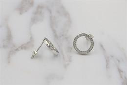 Wholesale Silver Earings Zircon - Authentic 925 sterling silver luxury jewelry earrings for women zircon earrings Wholesale fashion earings fit pandora
