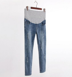 Wholesale Maternity Denim Jeans - 2017 autumn new fashion maternity cowboy trousers Korean version of the Slim cave foot pants