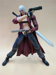 Wholesale Dante Figure - LilyToyFirm Play Arts Kai Devil May Cry 3 Dante 25cm PVC Action Figure Toy Collection Model Gift