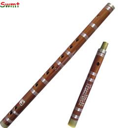Instrumentos china online-Venta al por mayor - flauta de bambú chino tradicional hecho a mano instrumentos musicales profesionales dizi CDEFG clave Flauta transversal con accesorios