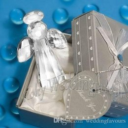 Wholesale Wholesale Gift Giveaways - Free Shipping 12pcs Choice Crystal Angel Favors Party Supplies Wedding Giveaways Anniversary Gifts Baby Shower Birthday Gifts Ideas