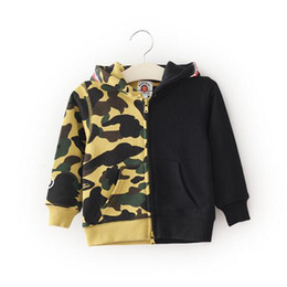 Wholesale Camo Sweaters - Factory Direct Sale Children's Camouflage Hooded Hoodie Camouflage Patchwork Children Sweater Hoodie Boy Cotton Camo Sweater Jacket