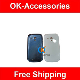 Wholesale Galaxy S3 Back Replacement - 5pcs lot Replacement s3mini Battery cover Door Back Housing Cover For Samsung Galaxy S3 Mini black white blue