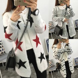 Wholesale Snowflake Cardigan Women - Wholesale-Women Sweaters 2016 Autumn Winter Casual Cardigan Fashion Knitted Sweaters pattern Snowflakes deer stars crown waves Cardigans