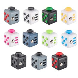 Wholesale Child Christmas Stockings - 2017 Newest Novelty Fidget Cube Toy Stress Relief Focus For Adults and Children Decompression Anxiety Toys Best Christmas Gift in Stock