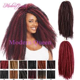 Wholesale Cheap Wholesale Kinky Curly Weave - Cheap Hot sale 18inch 100g afro kinky twist hair crochet braids muliti-color Marley Senegalese Twist Crochet Ombre Braiding Hair Extensions