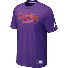 Wholesale Big Tall Men Shirts - Cheap Atlanta Braves Baseball T Shirts Big&Tall Logo Fashion Baseball Tees Shirt Short Sleeve O-Neck Cotton T-shirt 14 Colors