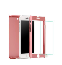 Wholesale Packaging Design Cell Phone - New design cell phone cases for apple iphone 6S 7 plus 360 hybrid pc hard case cover with tempered glass screen protector and retail package