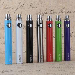 Wholesale Ego Usb Lead - Authentic UGO V Battery Hot Electronic Cigarette battery with LED Indicator 900mah 650mah evod mini micro usb passthrough ugo-v ego battery