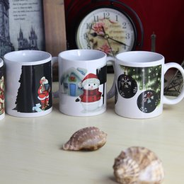 Wholesale Christmas Coffee Wholesale - (4 piece) Color changing cup   coffee cup, Christmas mug, Santa Claus snowman creative gift ceramic mug no4