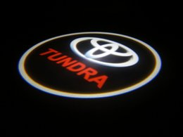 Wholesale Ghost Toyota - 2Pc Toyota Tundra LED Courtesy Ghost Shadow Lights Door Logo Projectors Free shipping