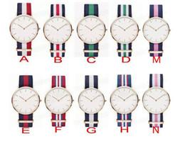 Wholesale Black Titanium Watch - 4.0cm Nylon New Release classic black watch luxury Daniel D brand new men watches quartz