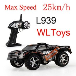 Wholesale Remote Control Car Steering - Wholesale-Amazing WLtoys L939 High Speed 2.4G mini RC Car Drift Car 5 Level Speed Shift Full Proportional Steering Remote Control Toys