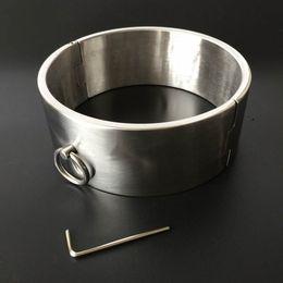 Wholesale Metal Bondage Collars - New Degisn BDSM Slave Toys Metal Neck Collar Steel Neck Rings with Lock Collars Bondage Harness for Adult Sex Game