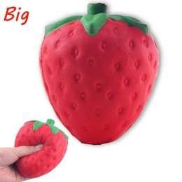Wholesale Kawaii Kids - Wholesale 12cm big Colossal strawberry squishy jumbo simulation Fruit kawaii Artificial slow rising squishies queeze toys bag phone charm
