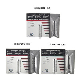 Wholesale Clearomizer Replacement Wicks - Original Innokin iClear 30S Clearomizer Replacement Dual Coil Head long wick 1.5 1.8 Ohm iClear 30 Coils