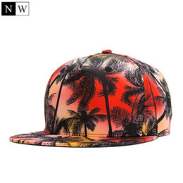 Wholesale Polyester Snapback Wholesale - Wholesale- [NORTHWOOD] Wholesale Fashion Snapback Baseball Caps Brand Basketball Hat Print Beach Scenery Mens Hats And Caps Direct Hip Hop
