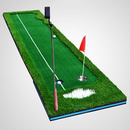 Wholesale Golf Equipment Training Aids - Wholesale- Hot Selling Professional Golf Putting Green Indoor Home Exercise Mat Beginners Practice Training Aids Golfing Equipment