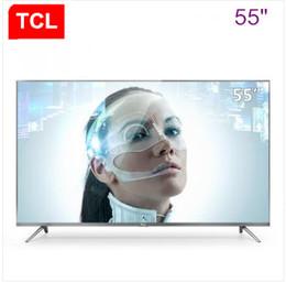 2019 taux tvs TCL ultra-haute définition mince en métal voix intelligente 55 pouces cadre en aluminium / résolution 4K + HDR 3840 * 2160 nouveaux produits chauds shippin gratuit
