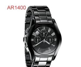 Wholesale Price Tagging - TOP QUALITY BEST PRICE Lovers AR1400 AR1401 AR1403 AR1404 AR1410 AR1411 AR1416 AR1417 CERAMIC CHRONOGRAPH WATCH Original box +Certificate