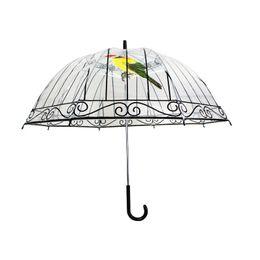 Wholesale Transparent Umbrellas Bubble - 3D Birdcage Transparent Long Handle Clear Bubble Dome Building Pattern Mushroom Rainy And Sunny Umbrella Parasol Gift ZA1551