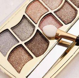 Wholesale Bright Eyeshadow Palettes - Professional Eye Makeup 12 Colors Eyeshadow Palette Gold Smoky Cosmetics Makeup Palette Diamond Bright Glitter Eye Shadow