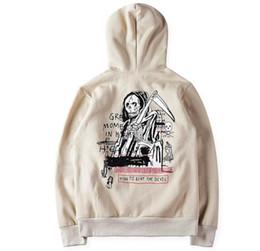 Wholesale Mens Christmas Hoodie - Justin Bieber Hoodie Kanye West Yeezus Hoodie Winter Warm Sweatshirt Mens Thick Tracksuit The Devil Kanye Hood Christmas Gift