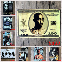Wholesale Beatles Posters - Beatles 2 pac Vintage Craft Tin Sign Retro Metal Poster Bar Pub Signs Wall Art Sticker(Mixed designs)