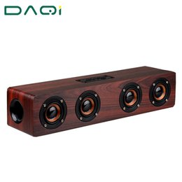 Wholesale Surround Sound Car - Wholesale- Wooden High Power Outdoor Bluetooth Speaker Wireless Stereo Super Bass Subwoofer Dancing Loudspeaker with fm radio sound car