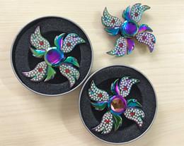 Wholesale Beyblade Phoenix - Colorful Rhinestone Angel Wing Phoenix Butterfly Diamond Beyblade Fidget Spinner Fingertip Gyro Hand Spinner EDC ADHD Toys