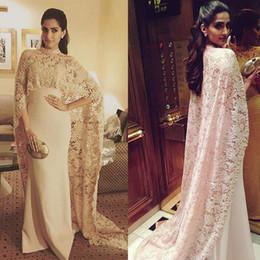 Fabuloso encaje estiramiento satinado cuello alto estilo de Arabia Saudita vestidos de noche con un abrigo largo Champagne vestido de fiesta vestidos longos de festa desde fabricantes